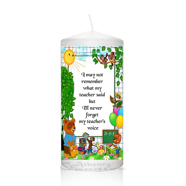 Thank You Teacher Candle 0122