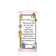 Thank You Teacher Candle 0123