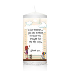 Thank You Teacher Candle 0125