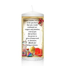 Thank You Teacher Candle 0126