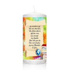 Thank You Teacher Candle 0129