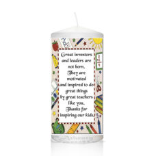 Thank You Teacher Candle 0130