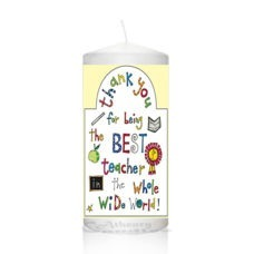 Thank You Teacher Candle 0132