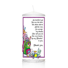 Thank You Teacher Candle 0136