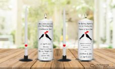 Wedding Unity Candle Set and Remembrance Candle Black Bird