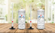 Wedding Unity Candle Set and Remembrance Candle Blue Bird