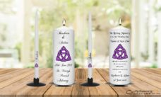 Wedding Unity Candle Set and Remembrance Candle Celtic