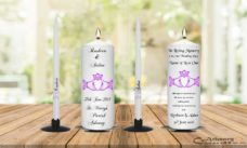Wedding Unity Candle Set and Remembrance Candle Claddagh