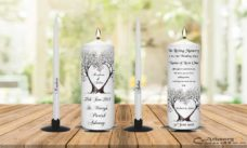 Wedding Unity Candle Set and Remembrance Candle Tree