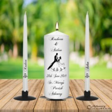 Wedding Unity Candle Set Black