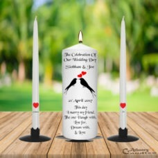 Wedding Unity Candle Set Black Bird