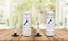 Wedding Unity Candle Set and Remembrance Candle Black