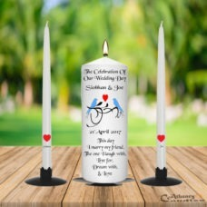 Wedding Unity Candle Set Blue Bird