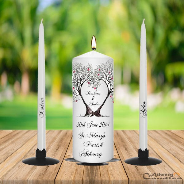 Wedding Unity Candle Set Tree