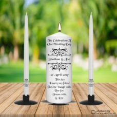 Wedding Unity Candle Set Vintage