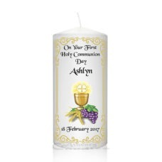 Communion Candle Chalice-Grapes