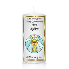 Communion Candle Girl Boy Chalice