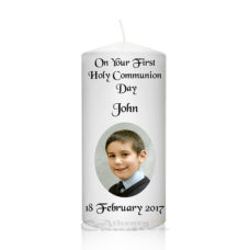Communion Photo Candle