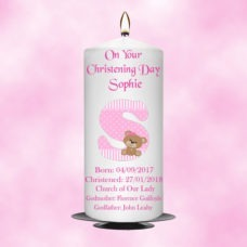 Christening Candle Girl 0331