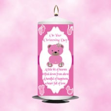 Christening Candle Girl 0333