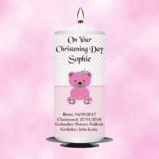 Christening Candle Girl 0337