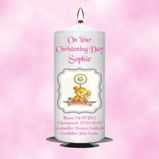Christening Candle Girl 0341