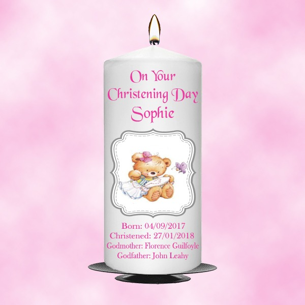 Christening Candle Girl 0343