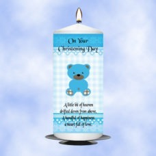Christening Candle Boy 0350