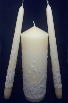 Lace Wedding Candle set