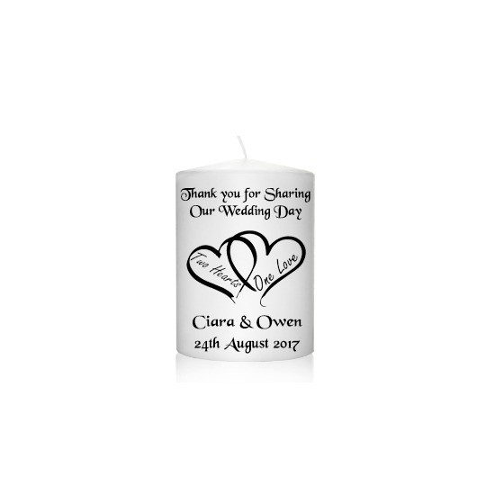 Wedding Favour Two Hearts