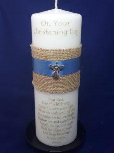 Christening Candle 9inch Boy