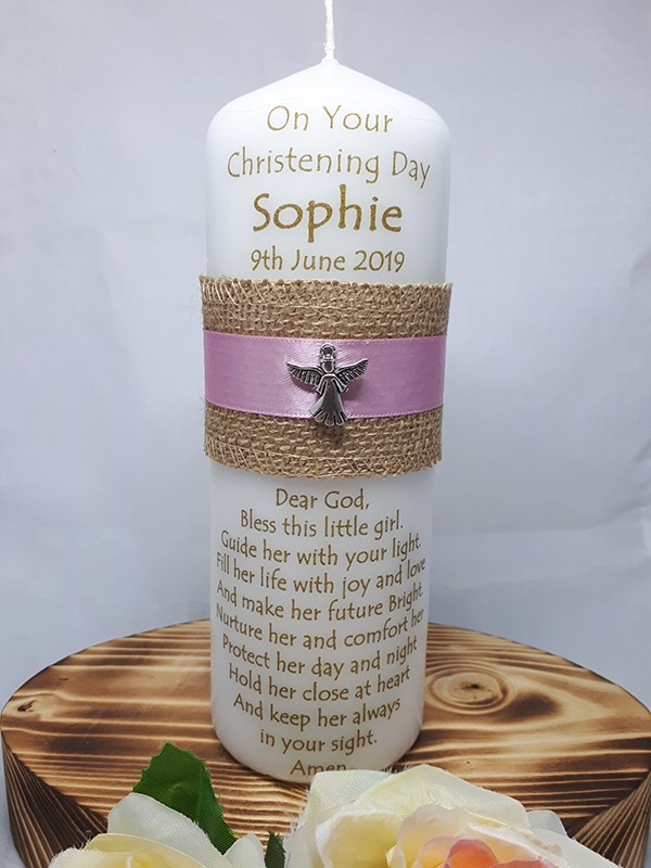 Christening Candle 9inch