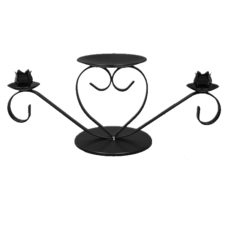 Heart Unity Candle Holder Black