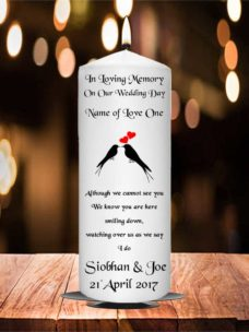 Wedding Remembrance Candle Black Birds