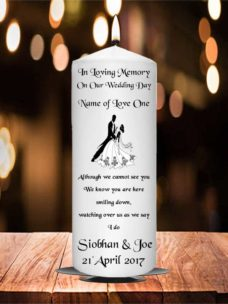 Wedding Remembrance Candle Black