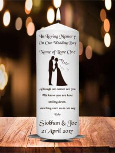Wedding Remembrance Candle Brown
