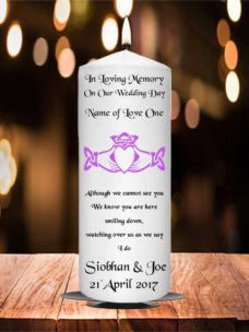 Wedding Remembrance Candle Claddagh