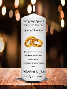 Wedding Remembrance Candle Gold Ring