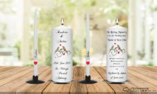 Wedding Unity Candle Set and Remembrance Candle Bird