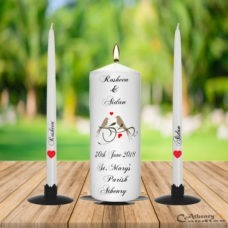 Wedding Unity Candle Set Bird