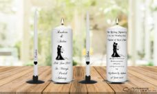 Wedding Unity Candle Set and Remembrance Candle