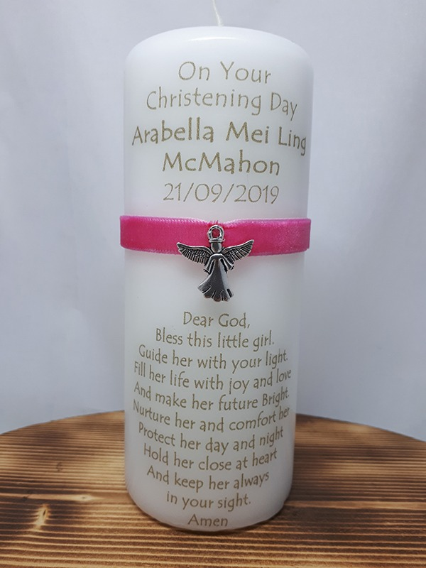 Christening Candle 6inch Girl