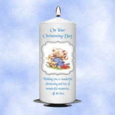 Christening Candle Boy 0360